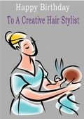 Hair Stylist - Greeting Card